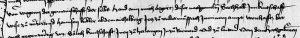 Abschnitt einer Urkunde von 1478