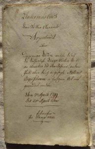 Original Kostenabrechnung-Deckblatt Einquartierung 1799