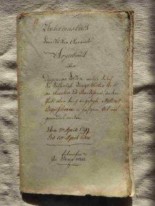 Deckblatt Einquartierung 1799