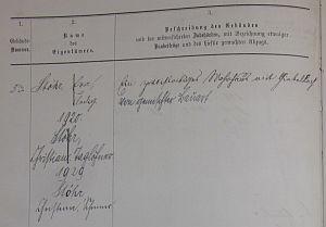 Eintrag Feuerversicherungsbuch 1887