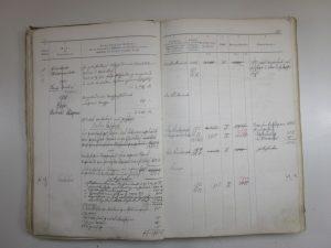 Feuerversicherungsbuch 1887 für Haus Nr. 18