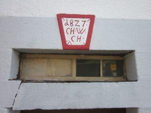 Haus Nr. 15 Türsturz