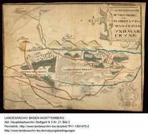 Karte vom Weilerwald