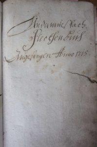 Kaufbuch 1715