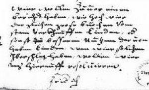 Text von Herzog Friedrich