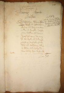 Lagerbuch von 1687