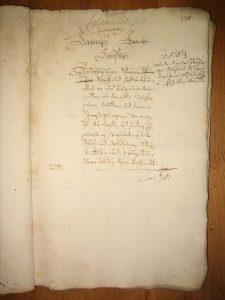Lagerbuch 1687 Blatt 138 Haus Nr. 17