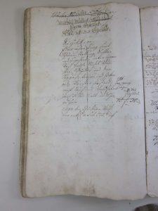 Lagerbuch von 1766 mit Haus Nr. 23/24