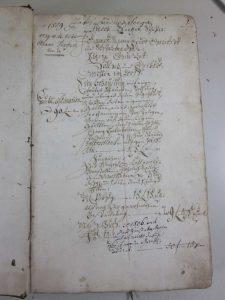 Lagerbuch von 1766