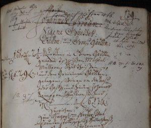 Lagerbuch von 1766 Ausschnitt von Seite 139