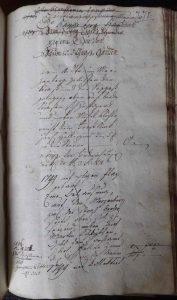 Lagerbuch von 1766 Seite 271 Haus Nr. 40
