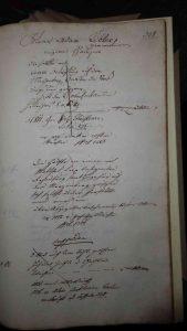 Lagerbuch 1766 Seite 308, Kübler