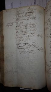 Lagerbuch 1766 Seite 138, Blöchle und Kübler