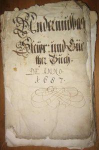Deckblatt Lagerbuch Untermusbach von 1687