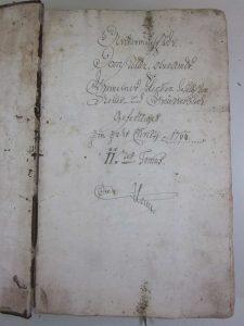 Lagerbuch Untermusbach 1799 Band 2