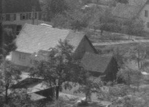 Ausschnitt Luftbild 1958. Haus Nr. 56