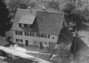 Ausschnitt Luftbild 1958, Haus Nr. 57