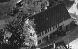 Ausschnitt Luftbild 1958 Haus Nr.58