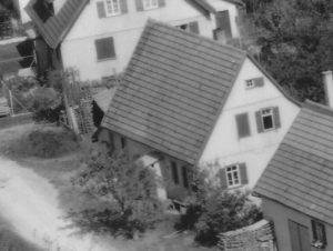 Ausschnitt Luftbild 1958, Haus Nr. 61