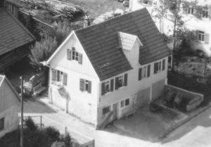 Ausschnitt Luftbild 1958, Haus Nr. 63