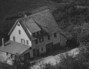 Ausschnitt Luftbild 1958, Haus Nr. 65
