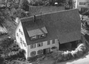 Ausschnitt Luftbild 1958, Haus Nr.67