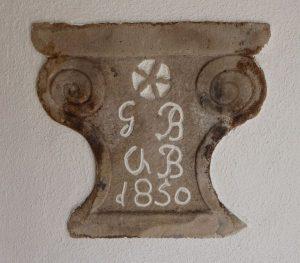 Türsturz Haus Nr. 27 Blöchle 1850
