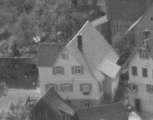 Haus Nr. 39, Ausschnitt aus Luftaufnahme von 1958