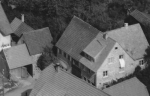 Ausschnitt Luftaufnahme von 1958 mit Haus Nr. 6