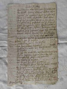 Kaufbrief von 1782