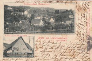 Postkarte Gasthof Rose