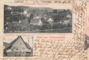 Postkarte an Katharina Finkbeiner 1903