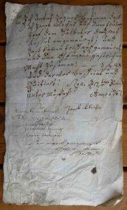 Rechnung Salpeterofen Reparatur 1767