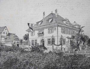Zeichnung vom Schulhaus 1910
