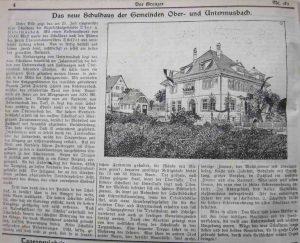 """Artikel aus der Zeitung """"Der Grenzer"""" 1910"""