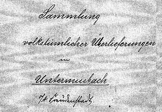 Sitten und Gebräuche 1899