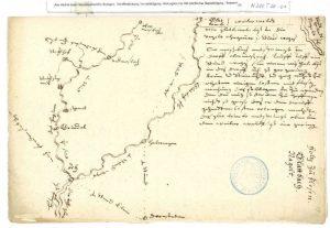 Schickhardts Bericht mit Karte
