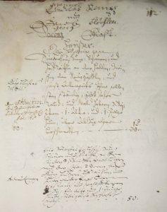 Lagerbuch 1687 Blatt 112, Haus Nr. 43 und 42