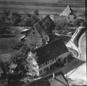 Luftbilde 1958 Haus Nr.58 im Kreis