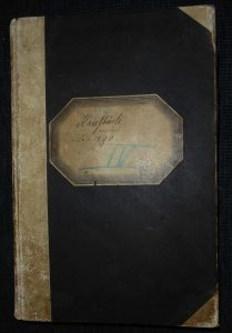 Buchdeckel Kaufbuch Untermusbach 1890 bis 1899