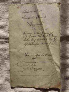 Deckblatt Einquartierungskosten 1800