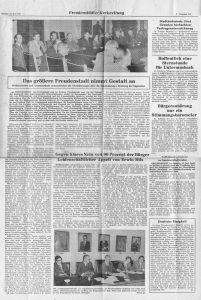 Artikel über Eingemeindung Versammlung 1974