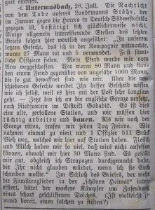 Der Grenzer 1904 - Brief klärt Irrtum auf.