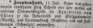 """Amtszeitung """"Der Grenzer""""  am 11. Juli 1900"""