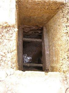 Der alte Einstiegschacht zur Brunnenstube
