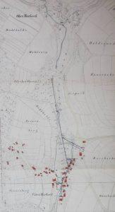 Übersicht  über Wasserleitung von Obermusbach nach Untermusbach 1888