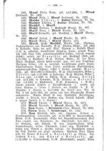 Auszug aus Zigeunerbuch 1905